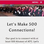 LRATC Alumni Connect page on smartphone.