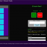 streamBro's counter controller displayed on desktop.