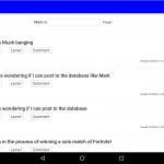 Zucknet user main feed displayed on tablet in landscape mode.