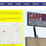 Carpets For Less Winnipeg Locate page on desktop.